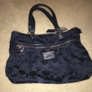 Women's navy blue coach purse